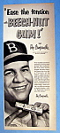 Click to view larger image of Vintage Ad: 1952 Beech Nut Gum with Roy Campanella (Image1)