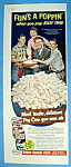 Click to view larger image of Vintage Ad: 1954 Jolly Time Popcorn w/The Nelson Family (Image1)