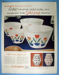Vintage Ad: 1954 Anchorglass Splash Proof Tulip Bowls