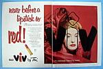 Click to view larger image of Vintage Ad: 1954 Toni Viv Lipstick (Image1)