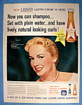 Click to view larger image of Vintage Ad: 1960 Lustre Creme Shampoo w/ Vera Miles (Image1)
