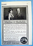 Click to view larger image of Vintage Ad: 1914 Melba & Kubelik (Image1)