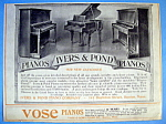 Click to view larger image of Vintage Ad: 1914 Vose Pianos (Image1)