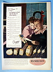 Click here to enlarge image and see more about item 13939: Vintage Ad: 1949 Hamilton Watch