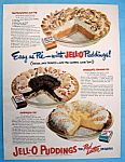 Click here to enlarge image and see more about item 13960: Vintage Ad: 1950 Jell O Puddings