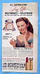 Click to view larger image of 1951 Tru-Glo Liquid Make-Up (Westmore) w/Jeanne Crain (Image1)