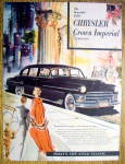 Click to view larger image of Vintage Ad: 1950 Chrysler Crown Imperial Limousine (Image1)