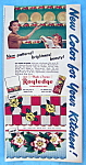 Vintage Ad: 1952 Royledge Shelf Lining Paper