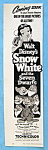 Click here to enlarge image and see more about item 14007: Vintage Ad: 1952 Snow White & The Seven Dwarfs