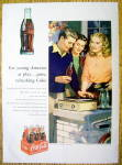Click to view larger image of 1953 Coca Cola (Coke) w/People Listening to Records (Image1)
