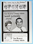 Vintage Ad: 1953 Van Heusen Shirts with Paul Douglas