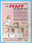 Click here to enlarge image and see more about item 14056: Vintage Ad: 1954 Pfaff Sewing Machine