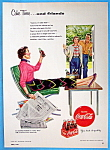 1954 Coca Cola (Coke) with Woman Holding a Paper