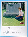 1955 Rock Of Ages Of Girl By Grave By Norman Rockwell