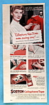 Click here to enlarge image and see more about item 14091: Vintage Ad: 1950 Scotch Tape
