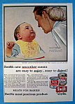 1956 Swift's Meats By Norman Rockwell (Mom & Baby)