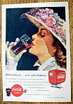 1949 Coca Cola (Coke) with Woman Drinking Glass of Coke
