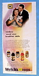 Click here to enlarge image and see more about item 14137: Vintage Ad: 1946 Welch's Foods