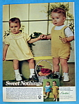 Click to view larger image of Vintage Ad: 1968 Carter's Sweet Nothings (Image1)