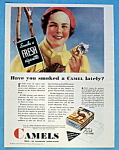 1932 Camel Cigarettes w/Woman & Pack of Cigarettes