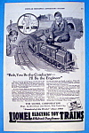 Vintage Ad: 1923 Lionel Electric Toy Trains