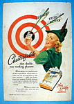 1938 Chesterfield Cigarettes w/Woman Like Robin Hood