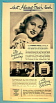 Click to view larger image of Vintage Ad: 1947 Woodbury Cold Cream w/Virginia Mayo (Image1)