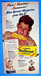 Click here to enlarge image and see more about item 14203: Vintage Ad: 1947 Blue Bonnet