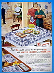 Click to view larger image of Vintage Ad: 1949 Simtex Cloths And Matkins (Image1)