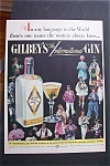 1940 Gilbey's International Gin with People & Countries