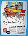 Click to view larger image of Vintage Ad: 1949 Lloyd Dinette Furniture (Image1)