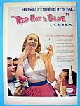 Vintage Ad: 1952 Cutex Red Hot n' Blue Nail Polish
