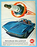 Click here to enlarge image and see more about item 14276: Vintage Ad: 1963 AC Spark Plugs