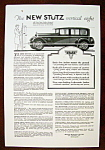 Click to view larger image of Vintage Ad: 1926 The New Stutz Vertical Eight (Image1)
