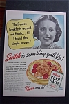1940 Kellogg's Corn Flakes Cereal with a Worried Mom