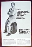 Click to view larger image of Vintage Ad: 1972 Firestone Radial V-1 (Image1)