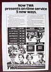 Vintage Ad: 1977 TWA Airlines
