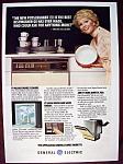 Click to view larger image of Vintage Ad: 1978 G. E. Dishwasher w/Debbie Reynolds (Image1)