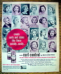 Click to view larger image of Vintage Ad: 1958 Max Factor Curl Control (Image1)