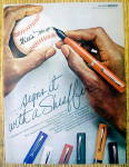 Click to view larger image of Vintage Ad: 1976 Sheaffer Pens with Willie Mays (Image1)