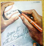 Click to view larger image of Vintage Ad: 1976 Sheaffer Pens with Willie Mays (Image2)