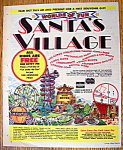Click here to enlarge image and see more about item 14351: Vintage Ad: 1976 Santa's Village Amusement Park