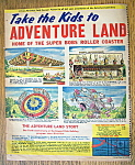 Click to view larger image of Vintage Ad: 1970 Adventure Land Amusement Park (Image1)