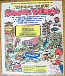 Click here to enlarge image and see more about item 14355: Vintage Ad: 1975 Santa's Village Amusement Park