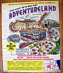 Click here to enlarge image and see more about item 14357: Vintage Ad: 1976 Adventure Land Amusement Park