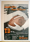 Click here to enlarge image and see more about item 14358: Vintage Ad: 1958 Wilson Football