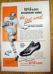 Click here to enlarge image and see more about item 14370: Vintage Ad: 1958 Wilson Riteweight Shoes w H. McElhenny