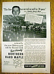 Click here to enlarge image and see more about item 14377: Vintage Ad: 1955 Northern Hard Maple w Coach Lloyd Skor