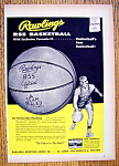 Click here to enlarge image and see more about item 14382: Vintage Ad: 1955 Rawlings RSS Basketball