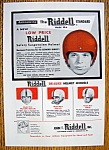 Click here to enlarge image and see more about item 14391: Vintage Ad: 1955 Riddell Football Helmets